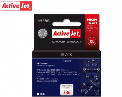 ACTIVE JET INK ΣΥΜΒΑΤΟ ΜΕ HP AH-336R #336XL BLACK 15ml (Α) #C9362A