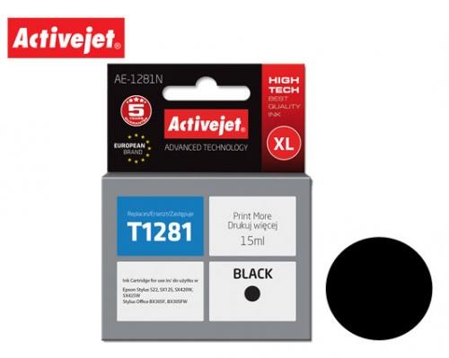 ACJ INK ΓΙΑ EPSON #T1281 BLACK AE-1281N 15ml (Ν)