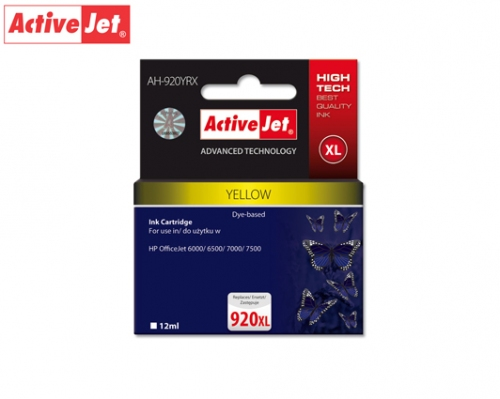 ACTIVE JET INK ΣΥΜΒΑΤΟ ΜΕ HP AH-920YCX #920XL YELLOW 12ml (Α) #CD974AE