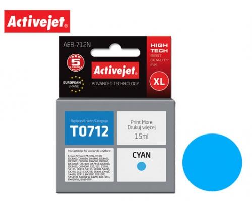 ACTIVE JET INK ΓΙΑ EPSON #T0712/#T0892 CYAN AEB-712N 15ml (Ν)