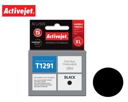 ACTIVE JET INK ΣΥΜΒΑΤΟ ΜΕ EPSON AE-1291N #T1291 BLACK 18ml (Ν) #C13T12914011