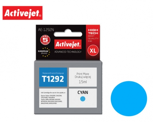 ACTIVE JET INK ΣΥΜΒΑΤΟ ΜΕ EPSON AE-1292N #T1292 CYAN 15ml (Ν) #C13T12924011