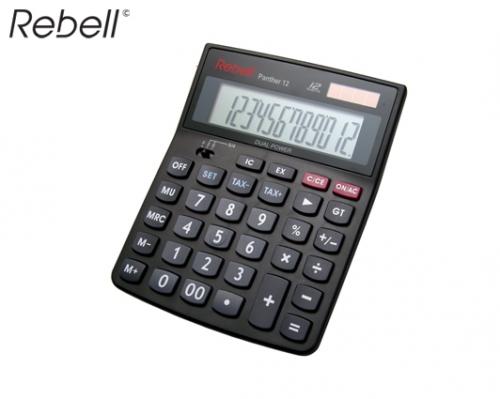 REBELL ΥΠΟΛΟΓΙΣΤΗΣ 12 ΨΗΦΙΩΝ 15x11x3cm PANTHER-12