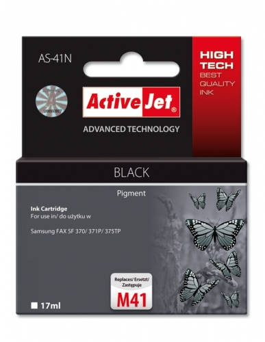 ACTIVE JET INK ΣΥΜΒΑΤΟ ΜΕ SAMSUNG AS-41N BLACK 17ml (Ν) #M41Ν
