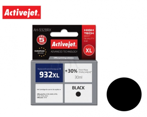 ACTIVE JET INK ΣΥΜΒΑΤΟ ΜΕ HP AH-932BRX #932XL BLACK 30ml (A) #CN053AE