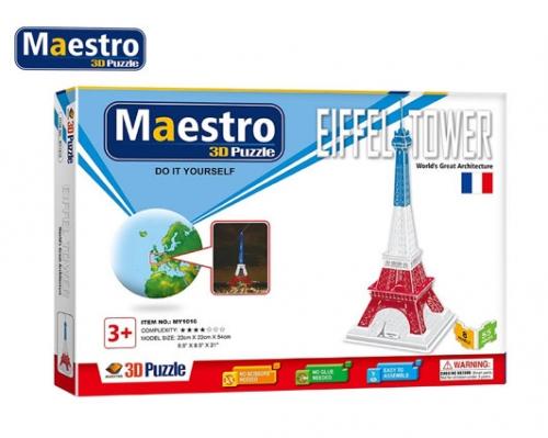 MAESTRO ΠΑΖΛ 3D 55Τ. 22x22x54cm EIFFEL TOWER