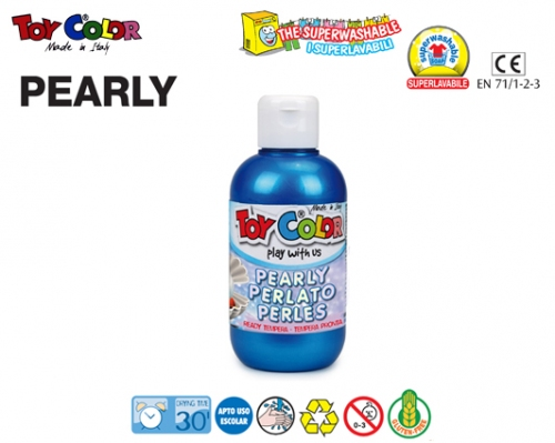 TOY COLOR ΤΕΜΠΕΡΑ 250ml SUPERWASHABLE PEARL BLUE