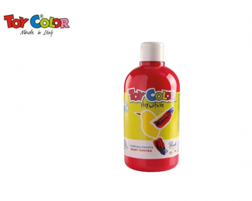TOY COLOR ΤΕΜΠΕΡΑ 500ml SUPERWASHABLE RED