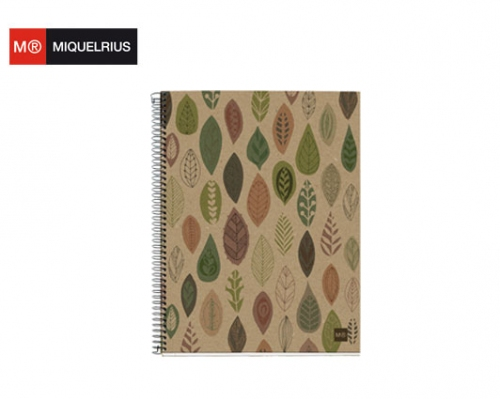 MIQUELRIUS ΤΕΤΡΑΔΙΟ Α4 120Φ. ΡΙΓΕ MR RECYCLED ECOLEAVES
