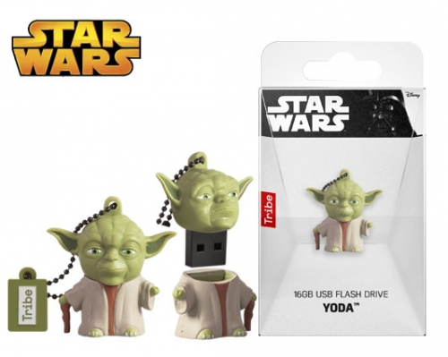 TRIBE FLASH DRIVE USB 3D STAR WARS YODA 16GB