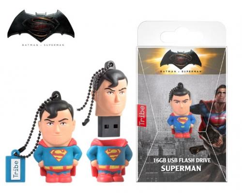 TRIBE FLASH DRIVE USB 3D DC SUPERMAN MOVIE 16GB