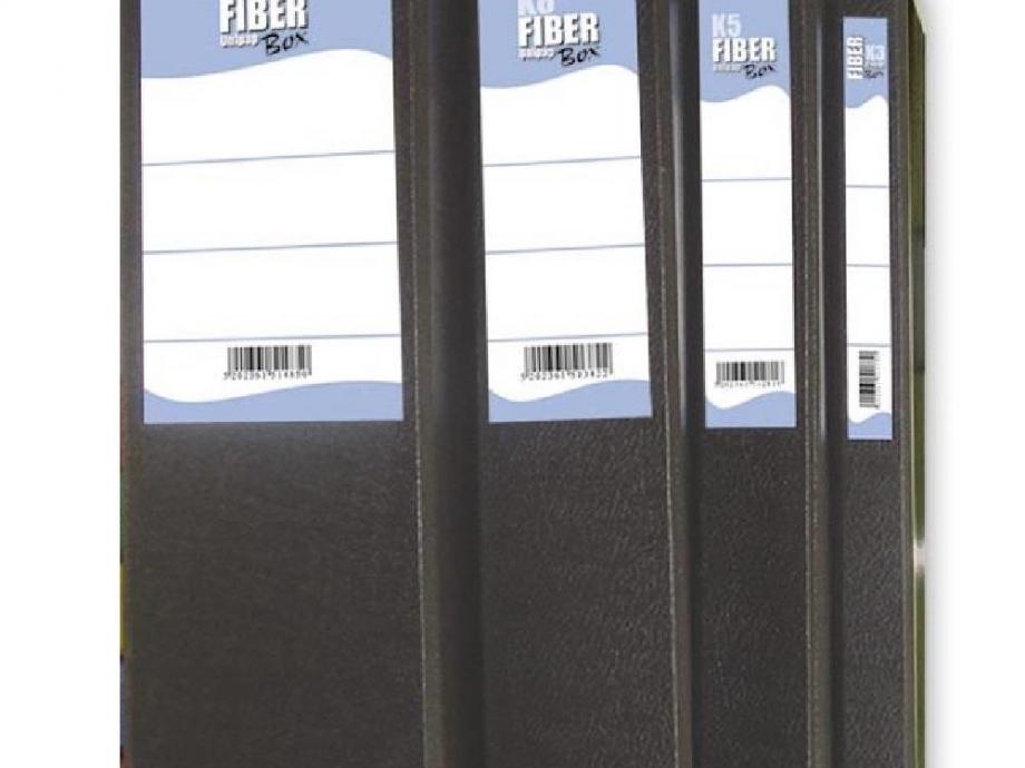 Κουτί με λάστιχο Fiber 12cm μαύρο