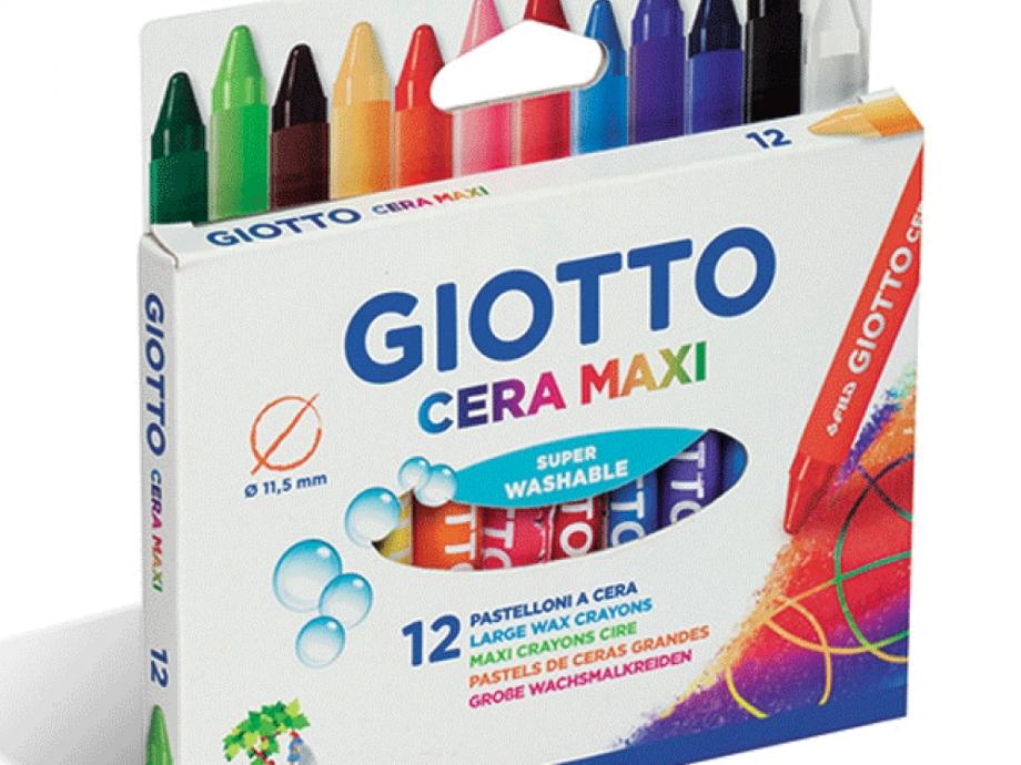 Κηρομπογιές Giotto cera maxi 12 τεμ
