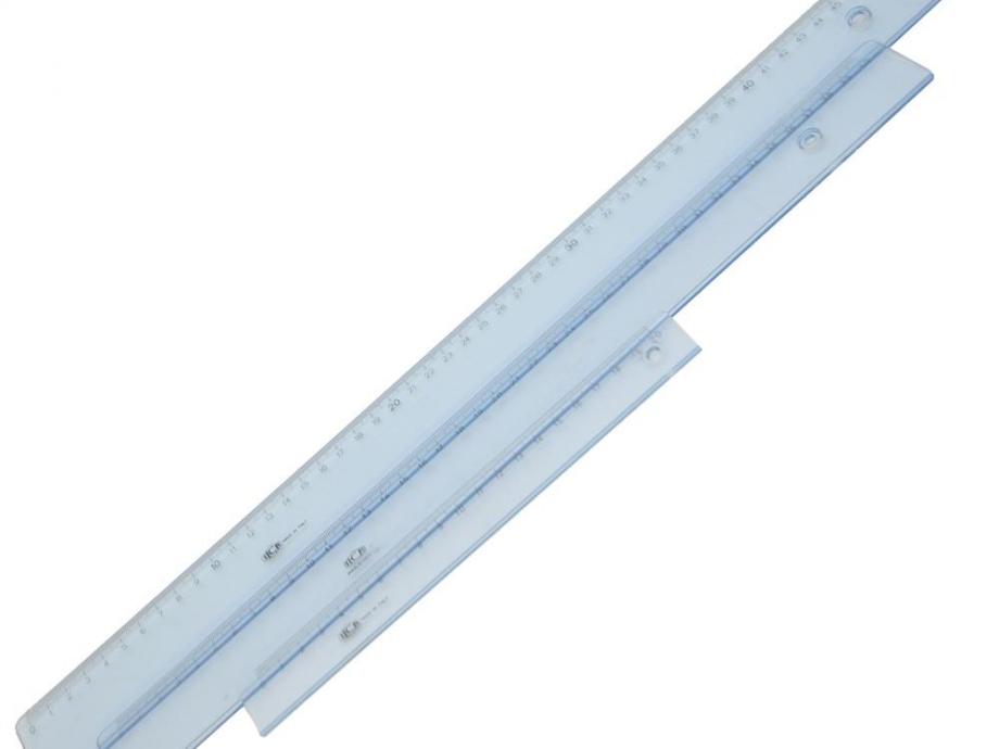 Χάρακας πλαστικός Ilca 60 cm