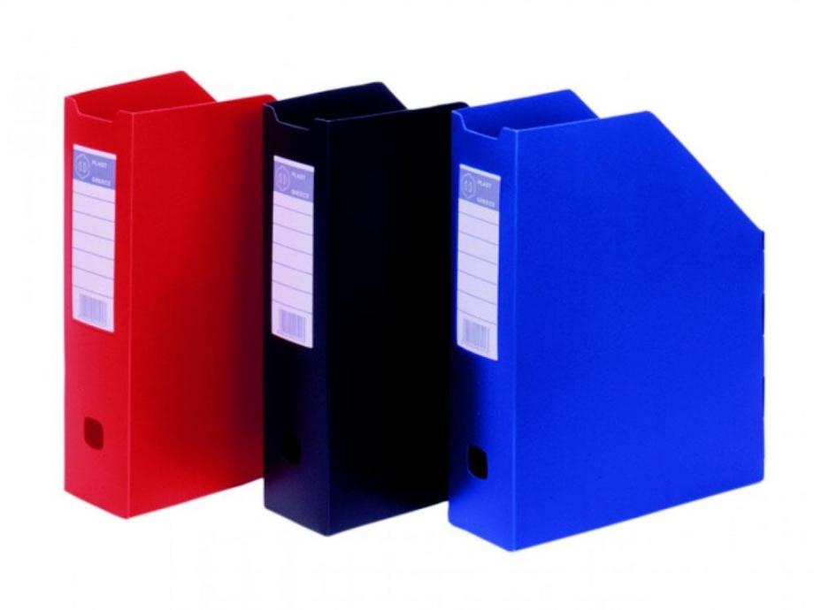 Θήκη περιοδικών πλαστική Φ plast μπλε