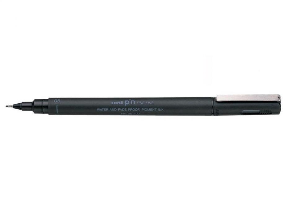 Μαρκαδοράκι Uni Pin 0,5 μαύρο