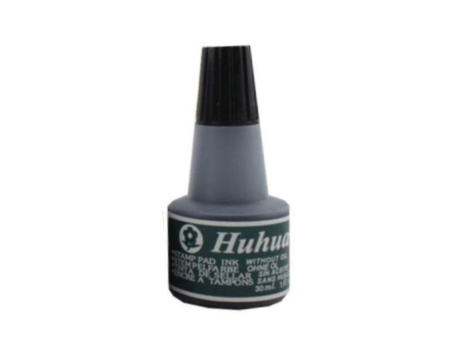 Μελάνι σφραγίδας Huhua 30ml μαύρο