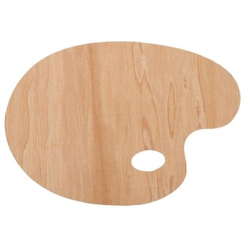 Παλέτα ξύλινη οβάλ 30x40 cm