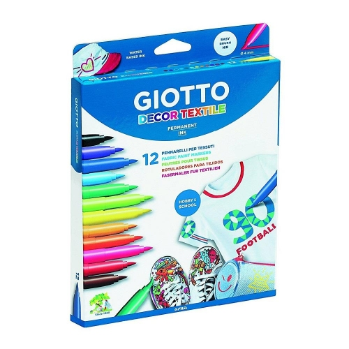 Μαρκαδόροι Giotto decor Textile 12 τεμ 494900