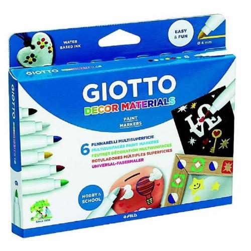 Μαρκαδόροι Giotto decor materials 6 τεμ. 453300