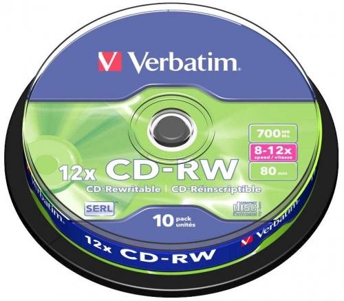 Cd-rw Verbatim 43480 πομπίνα 10 τεμ