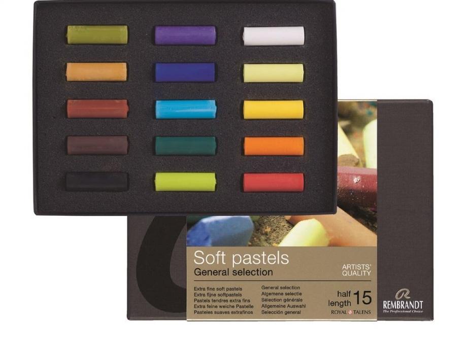 Soft pastels Rembrandt 15 half Talens 300C15.5