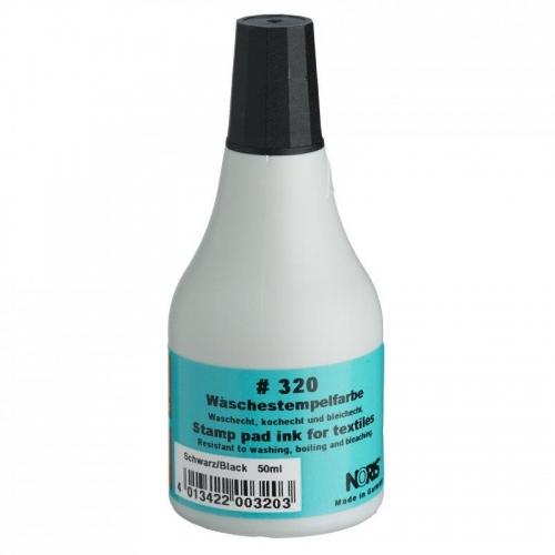 Μελάνι Noris 320 για ύφασμα μαύρο 50 ml