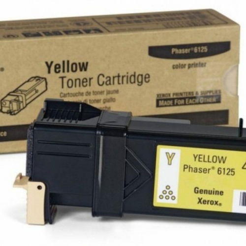 Toner Xerox Phaser 6125 yellow 106R01333