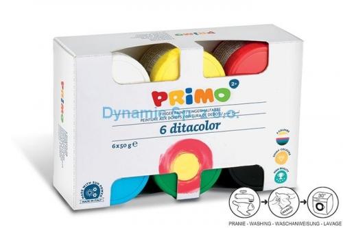 Δακτυλομπογιές Primo CMP 6x50 gr