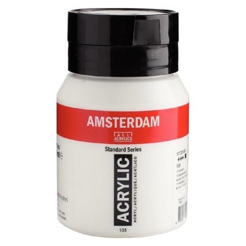 Ακρυλικό Amsterdam 500 ml λευκό 105 titanium white