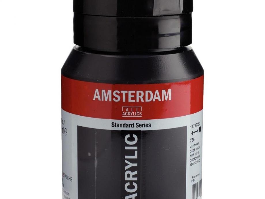 Ακρυλικό Amsterdam 500 ml μαύρο 735 black