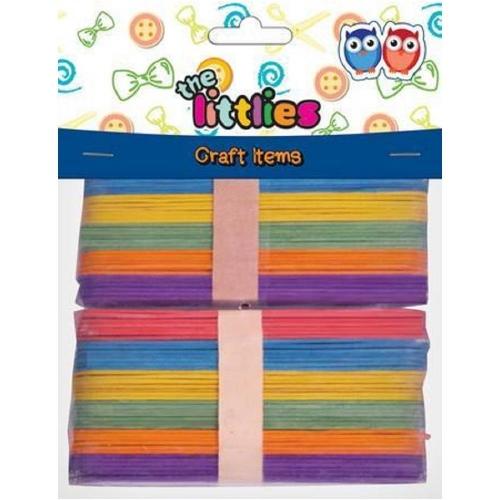 Ξυλάκια The littlies χρωματιστά 15 cm 80 τεμ.