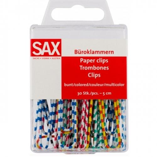 Συνδετήρες χρωματιστοί Sax 50 mm 30 τεμ.