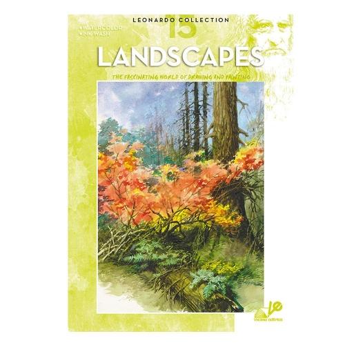 Βιβλίο ζωγραφικής Leonardo 15 landscapes