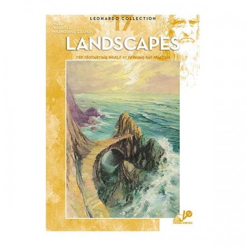 Βιβλίο ζωγραφικής Leonardo 17 landscapes