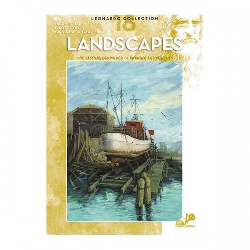 Βιβλίο ζωγραφικής Leonardo 18 landscapes