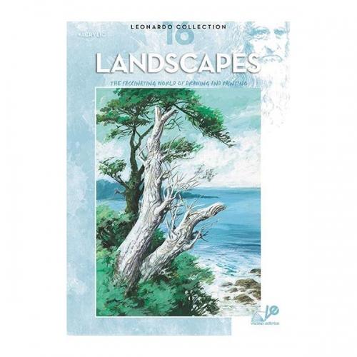 Βιβλίο ζωγραφικής Leonardo 16 landscapes