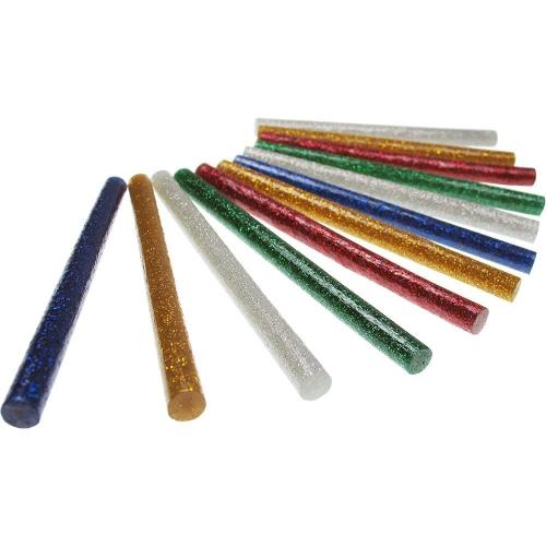 Ράβδοι σιλικόνης 7 mm 10 cm Meyco 12 τεμ. Glitter 65707