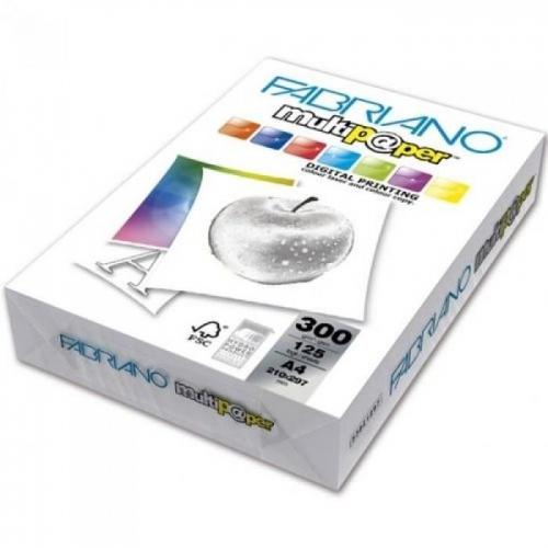 Χαρτονάκι Α4 Fabriano 300gr 125φ λευκό