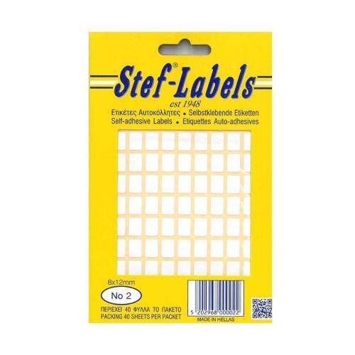 Ετικέτες λευκές Stef Labels No 2
