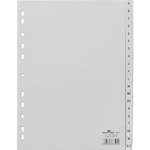 Διαχωριστικά ευρετήρια A-Z Durable 6513 γκρι