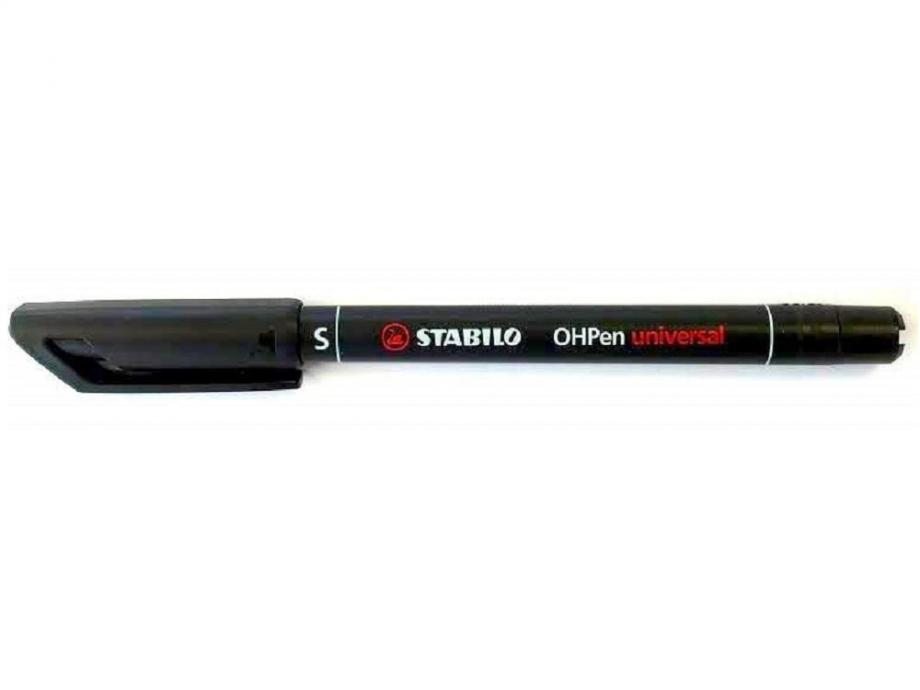 Μαρκαδορος Stabilo OHPen S μαύρος