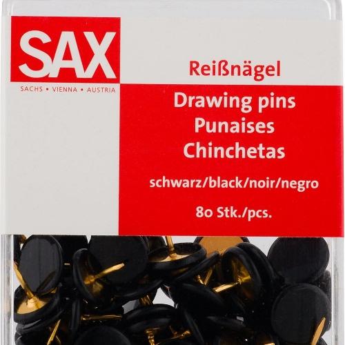 Πινέζες Sax μαύρες 80 τεμ.