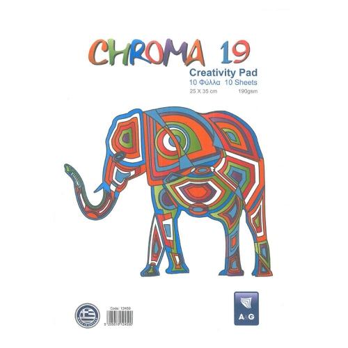 Μπλοκ κολάζ Chroma19 25x35 10 φύλλα κανσόν