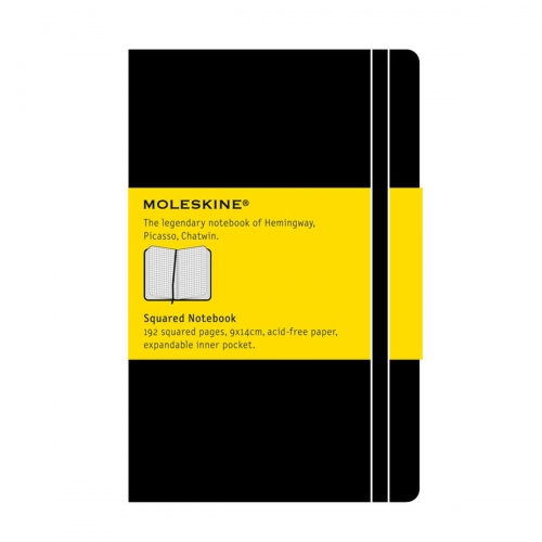 Σημειωματάριο Moleskine pocket black squared