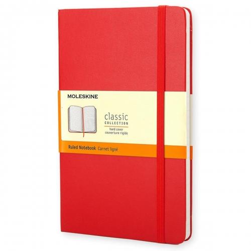 Σημειωματάριο Moleskine large red ριγέ