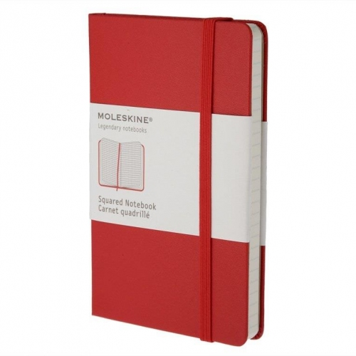 Σημειωματάριο Moleskine large red squared