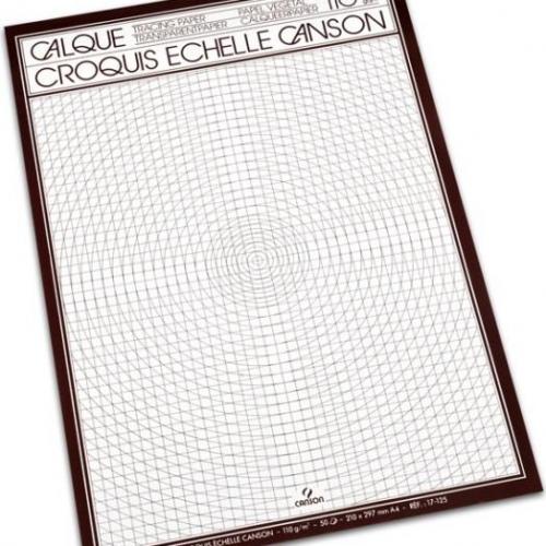 Μπλοκ Α3 διαφανές Canson 50φ 110 gr