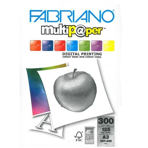 Χαρτονάκι Α3 Fabriano 300gr 125φ λευκό