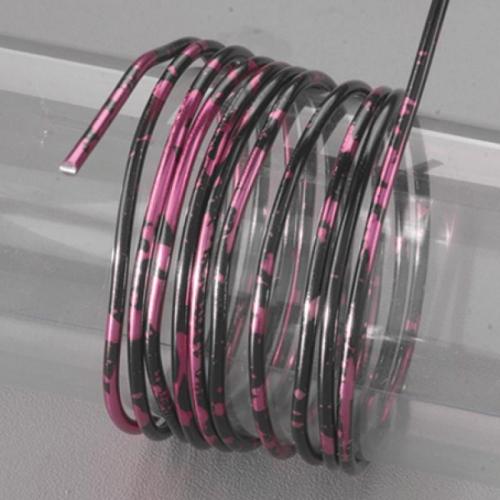 Σύρμα Efco δίχρωμο 2mmx2m μαύρο-φούξια